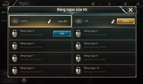 Thông tin nick Liên Quân Mobile mã số 61