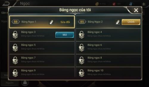Thông tin nick Liên Quân Mobile mã số 60