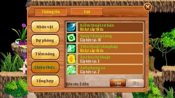 Thông tin Nick Làng Lá Phiêu Lưu Ký mã số 117