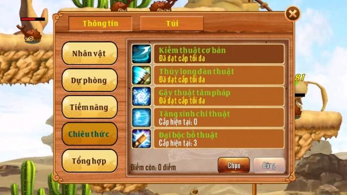Thông tin Nick Làng Lá Phiêu Lưu Ký mã số 119