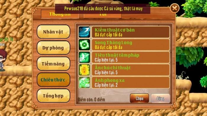 Thông tin Nick Làng Lá Phiêu Lưu Ký mã số 121