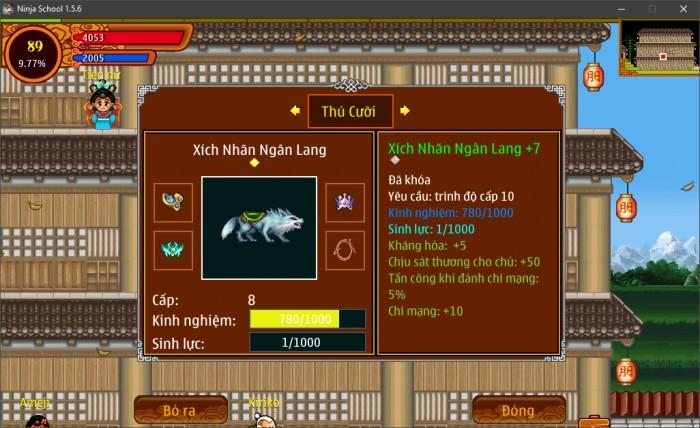 Thông tin Nick Ninja School mã số 148