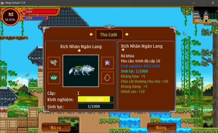 Thông tin Nick Ninja School mã số 149