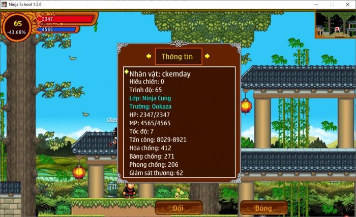 Thông tin Nick Ninja School mã số 151