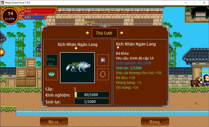 Thông tin Nick Ninja School mã số 157