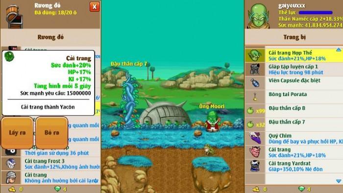Thông tin nick Ngọc Rồng mã số 5963