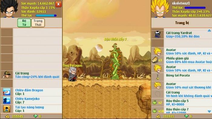 Thông tin nick Ngọc Rồng mã số 5968