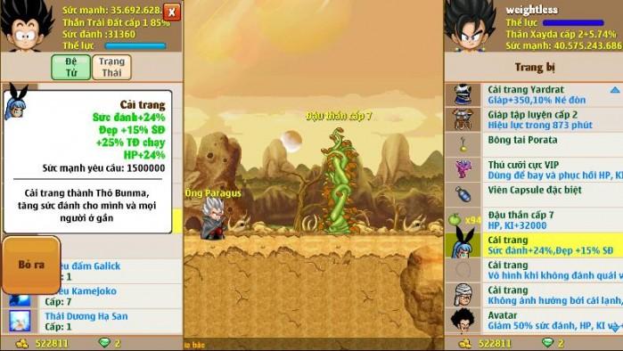 Thông tin nick Ngọc Rồng mã số 6028