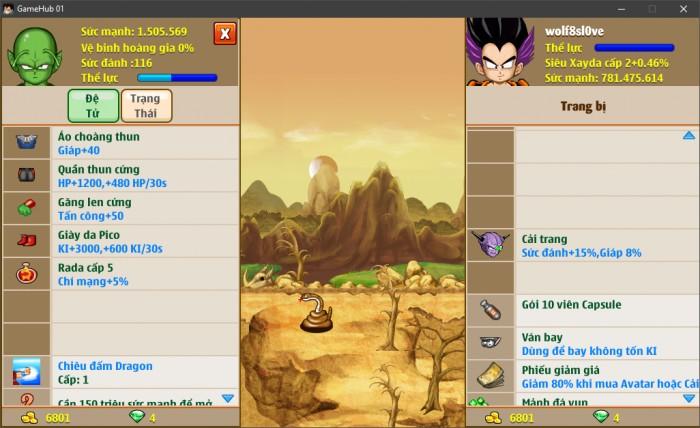 Thông tin nick Ngọc Rồng mã số 6642