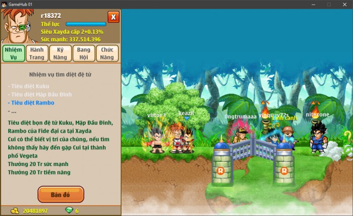 Thông tin nick Ngọc Rồng mã số 6650