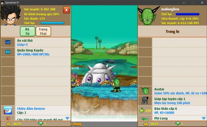 Thông tin nick Ngọc Rồng mã số 6656