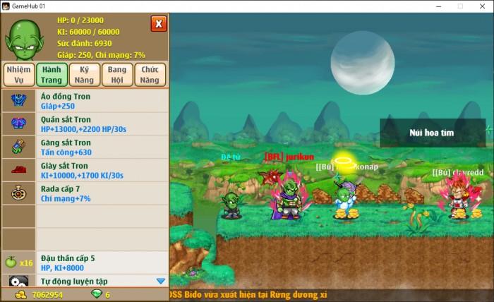 Thông tin nick Ngọc Rồng mã số 6892