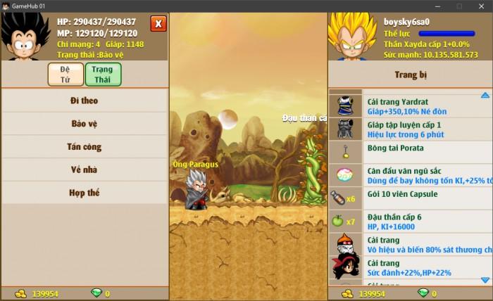 Thông tin nick Ngọc Rồng mã số 6925